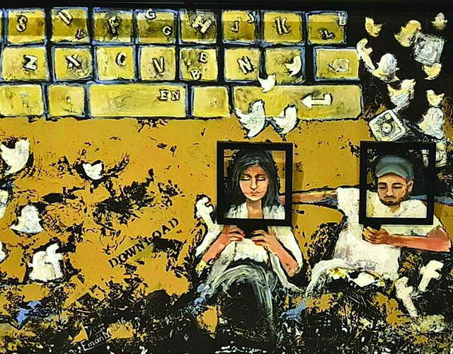 Photo of التشكيلية إيمان المسلم لـ «أسرتي»: لوحاتي صاخبة في صراحتها