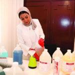 فاطمة القلاف: التنظيف ليس مجرد «مـاء وصابـون» كما يظن البعض